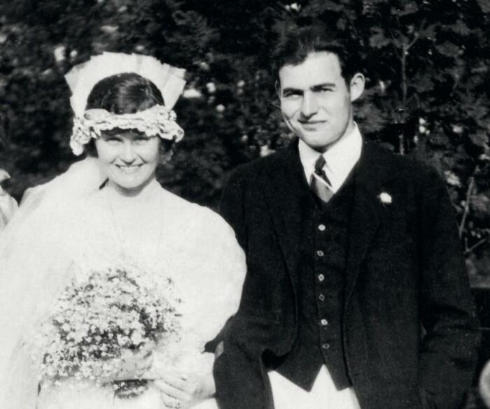Эрнест Хемингуэй и Элизабет Хэдли Ричардсон. / Фото: www.bookstr.com