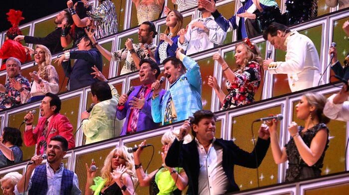 Кадр со съёмок шоу «Ну-ка, все вместе». / Фото: www.gtrk-kaluga.ru