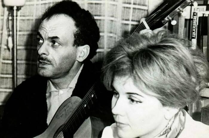 Булат Окуджава и Ольга Арцимович. / Фото: www.biographe.ru