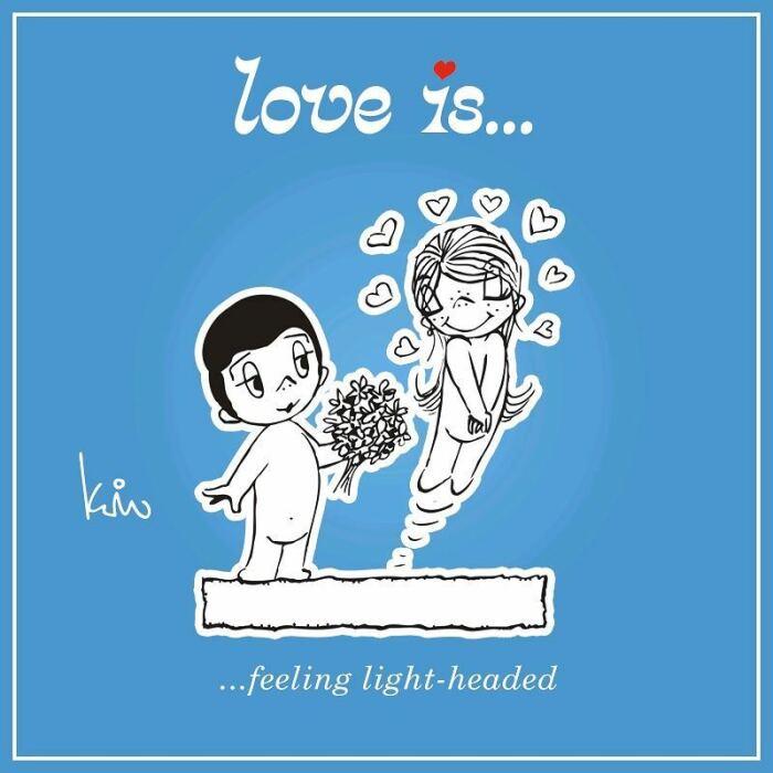 Ким находила любые способы для того, чтобы карточки попали в руки любимого человека. / Фото: www.loveiscartoon.com