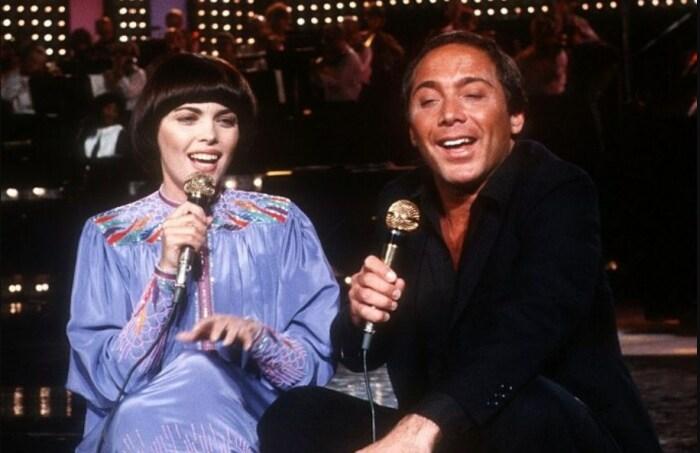 Мирей Матье и Пол Анка. / Фото: www.gettyimages.com