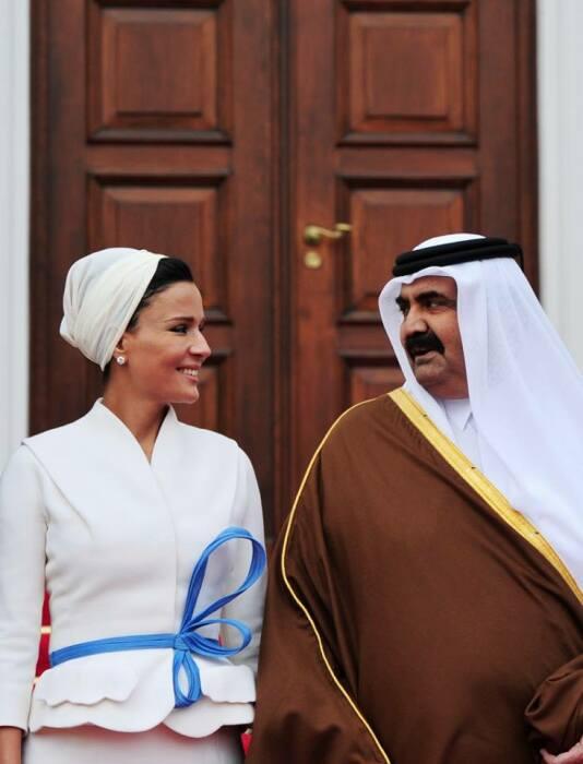 Шейха Моза и Хамад бин Халифа Аль Тани. / Фото: www.stb.ua