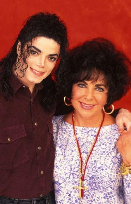 Майкл Джексон и Элизабет Тейлор. / Фото: www.pinimg.com