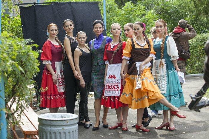 На съёмках сериала «Берёзка». / Фото: www.filmpro.ru