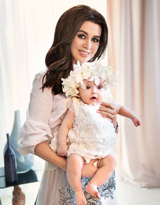 Анастасия Заворотнюк с дочерью Милой. / Фото: www.neskychno.com