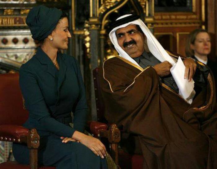 Шейха Моза и Хамад бин Халифа Аль Тани. / Фото: www.liketka.com