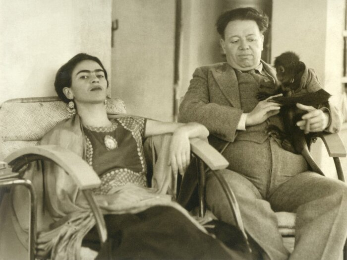Фрида Кало и Диего Ривера. / Фото: www.hair.su