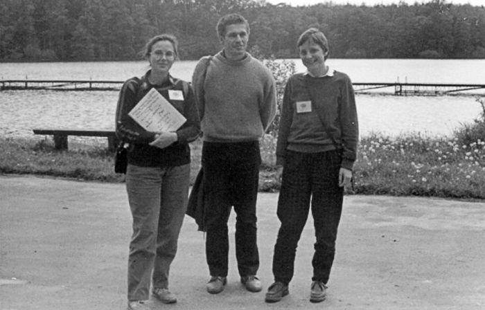Ангела Меркель и Иоахим Зауэр в 1990 году, во время поездки по обмену студентами в Польшу. / Фото: www.spiegel.de