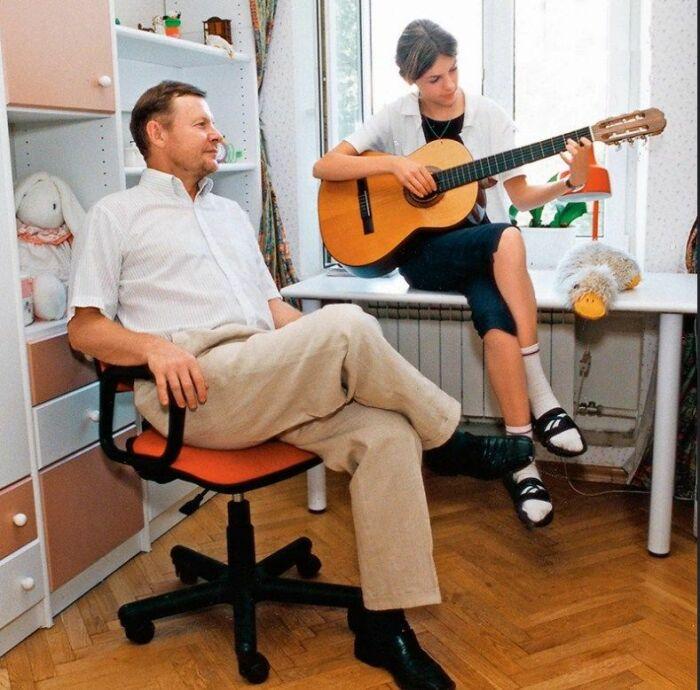 Елизавета Соломина с папой. / Фото: www.7days.ru