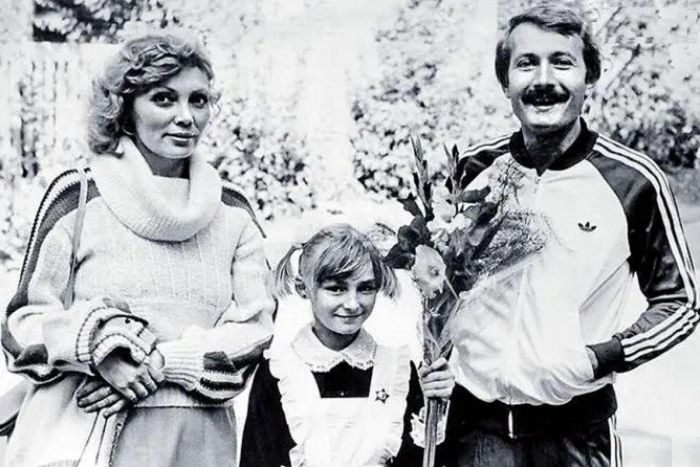 Андрей Градов с женой и дочерью. / Фото: www.kinoblogi.ru