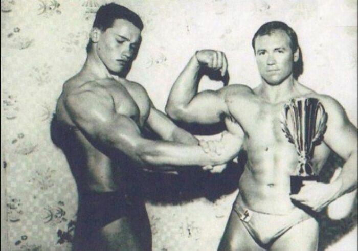 Арнольд и Майнхард Шварценеггеры. / Фото: www.rtr-vesti.ru