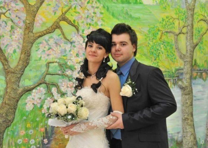 Михаил и Елена Казаковы в день свадьбы. / Фото: www.express-novosti.ru