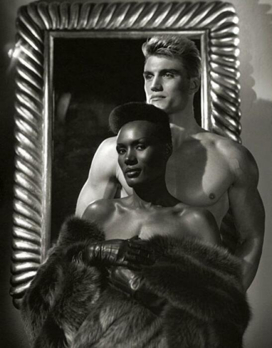 Дольф Лундгрен и Грейс Джонс. / Фото: www.invaluable.com