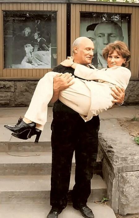 Александр Пороховщиков с женой.  / Фото: www.yandex.net