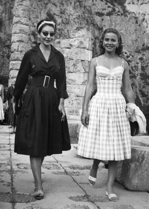 Афина Ливанос и Мария Каллас. / Фото: www.newsone.gr