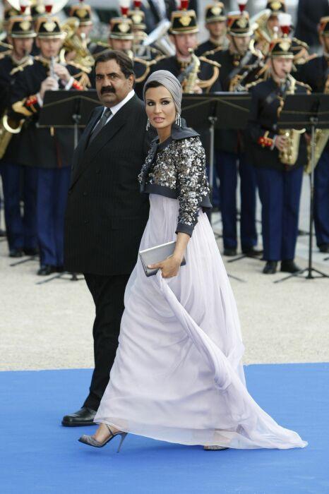 Шейха Моза и Хамад бин Халифа Аль Тани. / Фото: www.pinimg.com