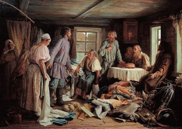 Василий Максимов. Семейный раздел. 1876 год. / Фото: www.arzamas.academy