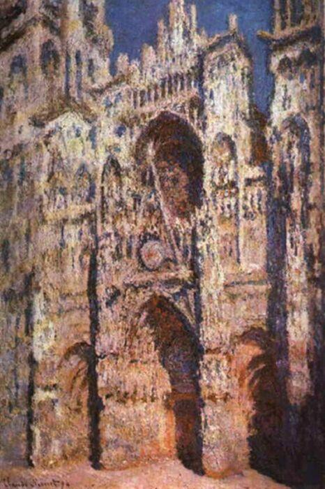 «Руанский собор в солнце», Клод Моне. / Фото: www.wday.ru