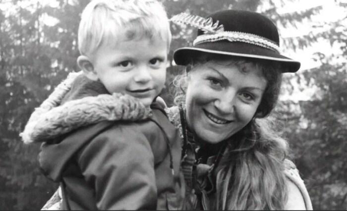 Анна Герман с сыном. / Фото: www.yandex.net
