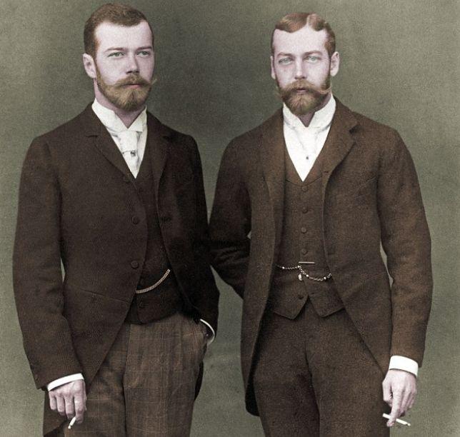 Николай II и Георг V. / Фото: www.pinimg.com