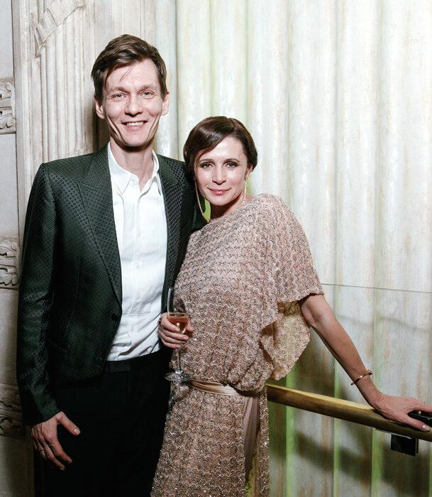 Филипп Янковский и Оксана Фандера. / Фото: www.glamour.ru