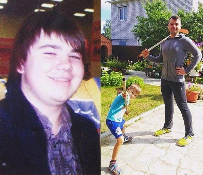 Михаил Казаков до и после похудения. / Фото: www.obaldela.ru
