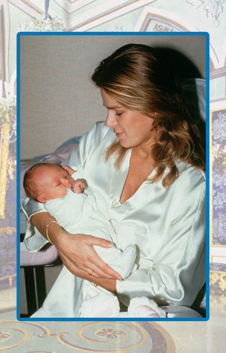 Принцесса Стефания с сыном Луи.