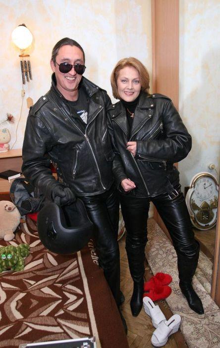Ольга Битюкова с мужем. / Фото: www.kino-teatr.ru