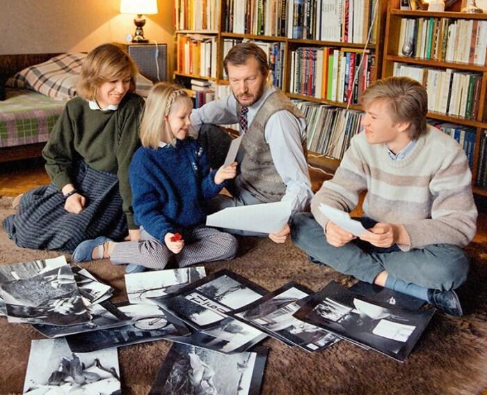 Юозас Будрайтис с женой и детьми. / Фото: www.7days.ru
