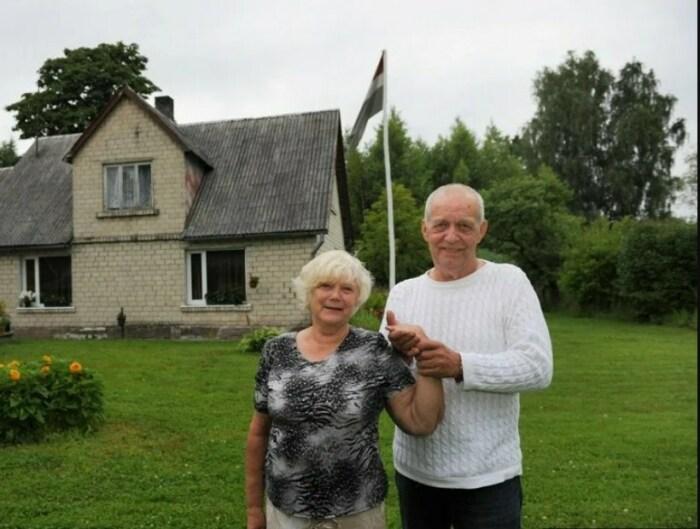 Паул Буткевич с женой Зинтой. / Фото: www.yandex.net