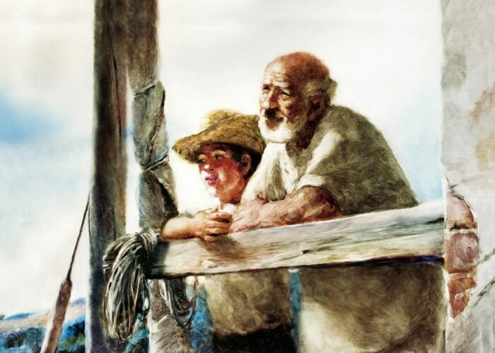 Кадр из фильма «Старик и море». / Фото: www.kinopoisk.ru
