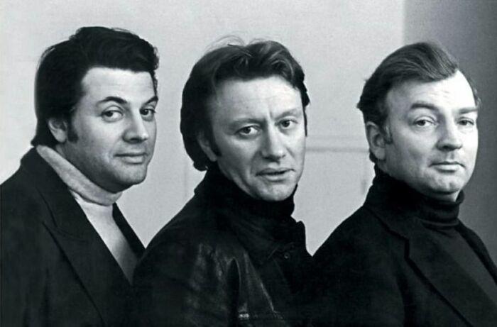 Михаил Державин, Андрей Миронов и Михаил Ширвиндт. / Фото: www.stihi.ru