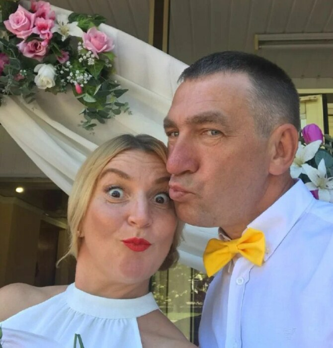 Инна Белоконь с мужем. / Фото: www.obozrevatel.com