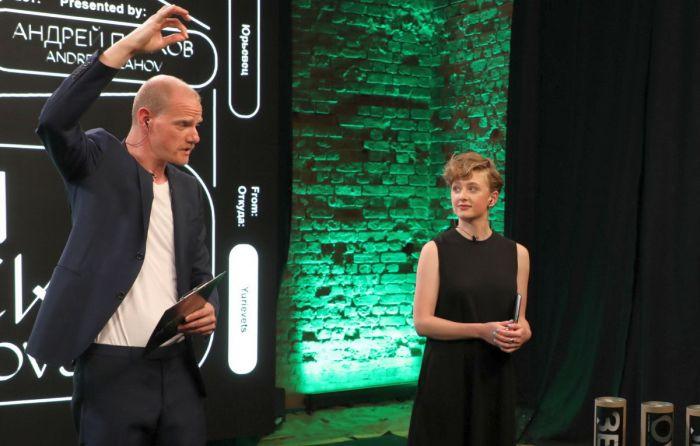 Ольга Бодрова и Юрий Колокольников на церемонии закрытия фестиваля «Зеркало». / Фото: www.nashe.ru