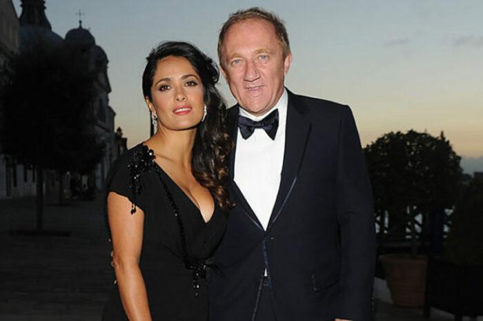 Сальма Хайек и Франсуа-Анри Пино. / Фото: www.funterclub.com