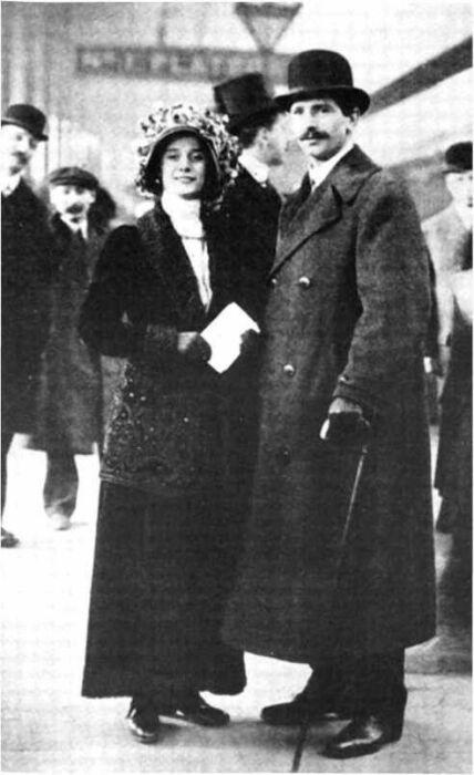 Анна Павлова и Виктор Дандре. / Фото: www.pinimg.com