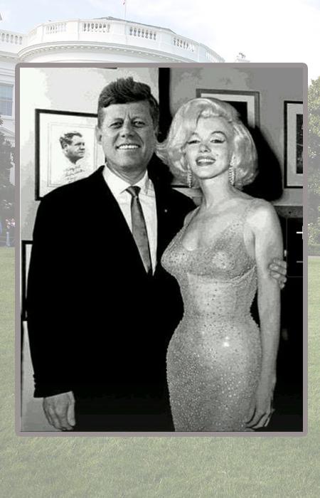 Мэрилин Монро и Джон Кеннеди.