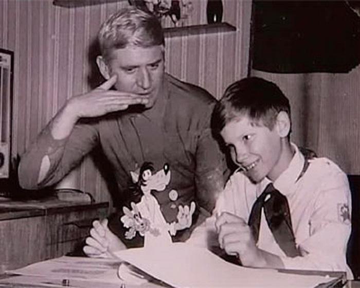 Вячеслав Котёночкин с сыном.  / Фото: www.radio.cz