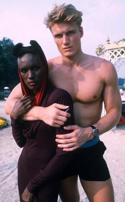 Дольф Лундгрен и Грейс Джонс. / Фото: www.imgur.com