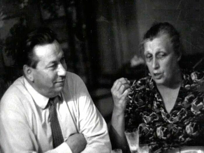 Василий Меркурьев и Ирина Мейерхольд. / Фото: www.tvkultura.ru