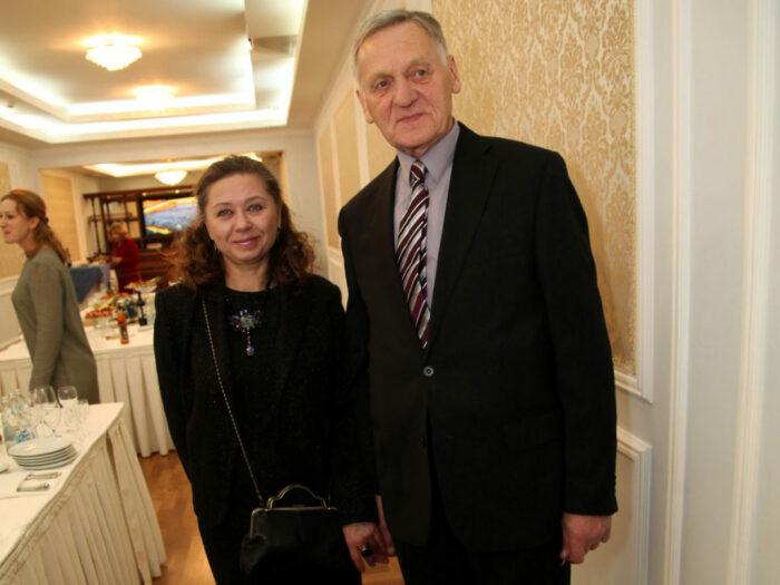 Миколас Орбакас с женой. / Фото: www.music-facts.ru
