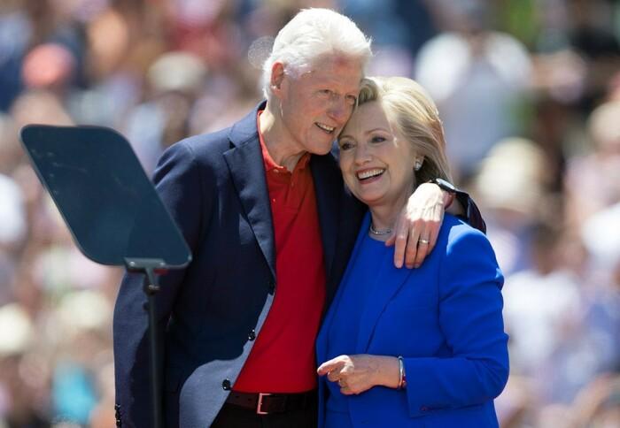 Билл и Хиллари Клинтон. / Фото: www.muzh-zhena.ru