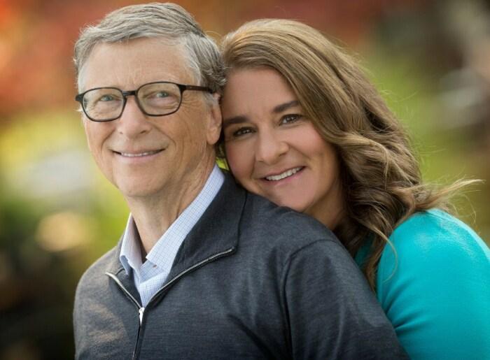 Мелинда и Билл Гейтс.  / Фото: www.twimg.com