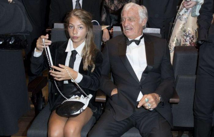 Жан-Поль Бельмондо с дочерью Стеллой. / Фото: www.purepeople.com