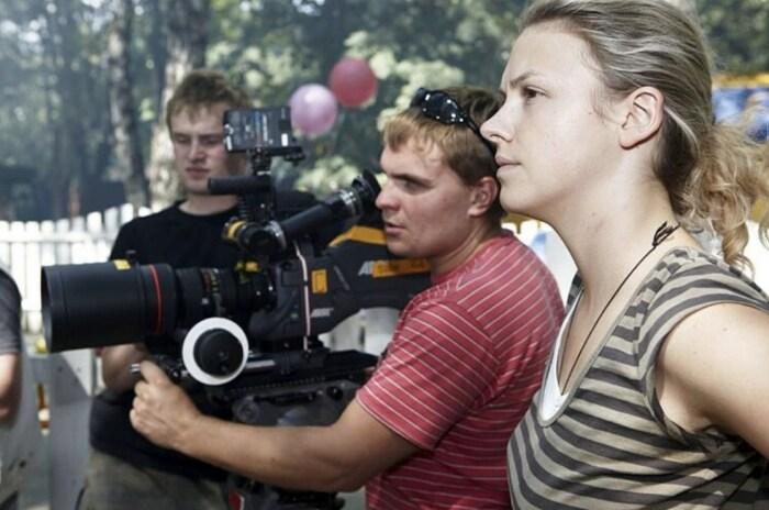 Елизавета Соломина на съёмочной площадке. / Фото: www.love-psy.ru