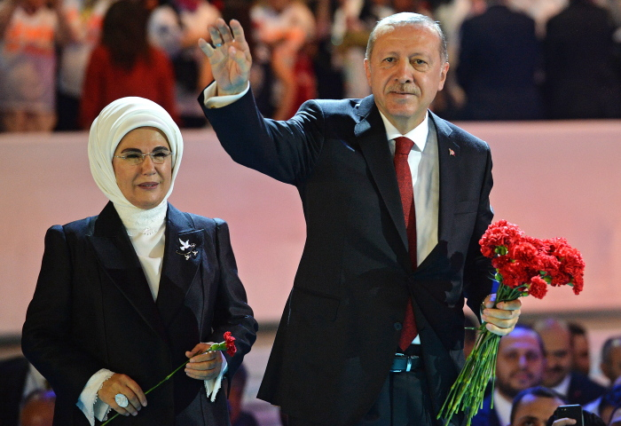 Реджеп Тайип Эрдоган и Эмине Эрдоган. / Фото: www.direktno.hr