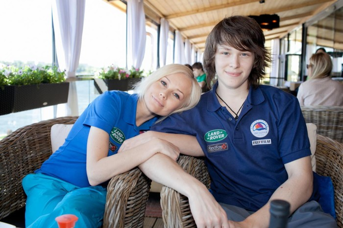 Елена Корикова с сыном. / Фото: www.games-of-thrones.ru