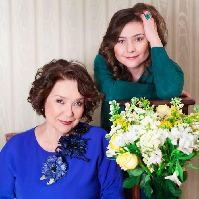 Мария Голубкина с мамой. / Фото: www.passion.ru