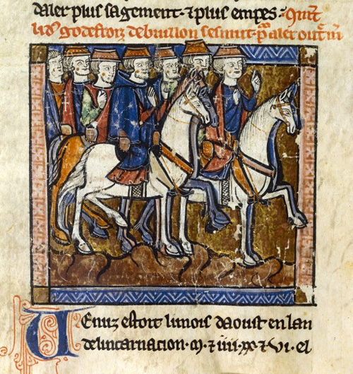 Отбытие крестоносцев в Святую землю (миниатюра, XIII век)./wikimedia.org
