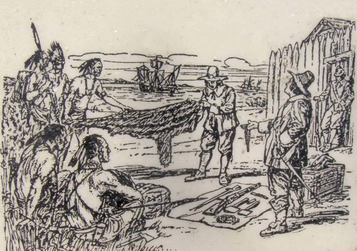 Торговля аборигенов и колонизаторов./Фото: https://www.tiki-toki.com